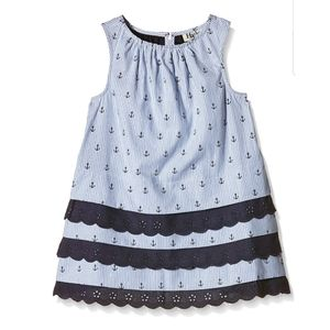 Hatley| Nautical Lace  Tiered Dress Size 8